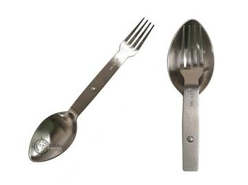 Εικόνα της Σετ Κουταλοπίρουνο Mil-Tec Foldable Eating Utensil Steel