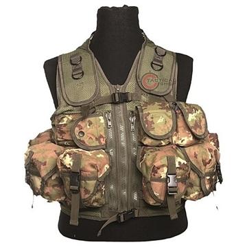 Εικόνα της Γιλέκο Μάχης Mil-Tec Vest Tactical 9 Pockets Vegetato Woodland