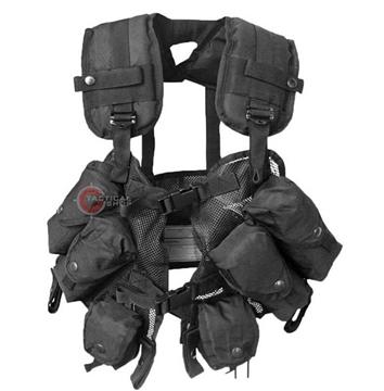 Εικόνα της Γιλέκο Μάχης Mil-Tec Load Bearing Vest Μαύρο