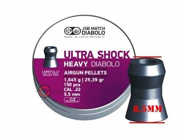 Εικόνα της Βολίδες Αεροβόλου JSB Ultra Shock Heavy Diabolo 5.52mm