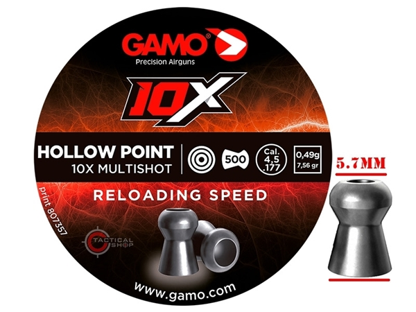 Picture of Βολίδες Αεροβόλου Gamo 10x Hollow Point 4.5mm