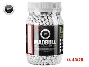Εικόνα της Μπίλιες Για Airsoft MadBull Heavy White Series BBs 0,45g 2000 τεμ
