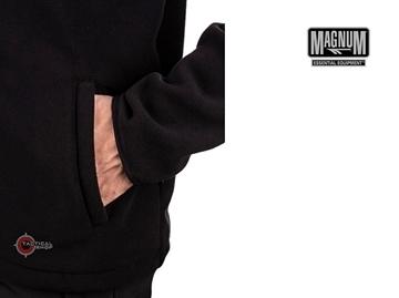 Εικόνα της Ζακέτα Magnum Essential Fleece Μαύρη