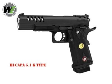 Εικόνα της Airsoft Πιστόλι Αερίου Wei-ETech Hi-Capa 5.1 K-Type Full Metal 6mm BB Black