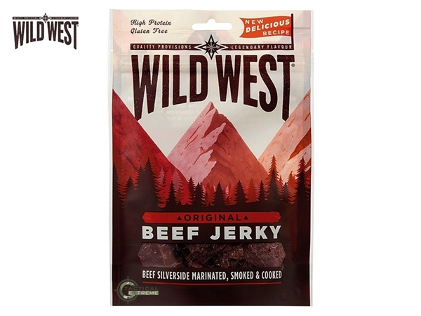 Picture of Αφυδατωμένο Βοδινό Κρέας Wild West Beef Jerky Original 70γρ