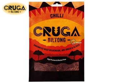 Εικόνα της Αποξηραμένο Βοδινό Κρέας Cruga Beef Biltong Chilly 70γρ