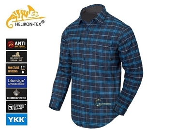 Εικόνα της Πουκάμισο Helikon GreyMan Shirt Blue Stonework Plaid