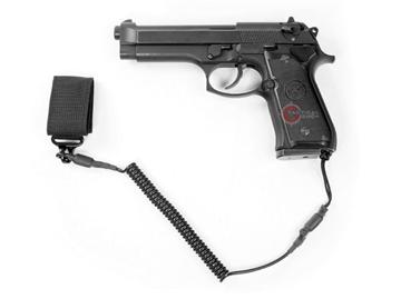 Εικόνα της Σπιράλ Καλώδιο Συγκράτησης Όπλου MFH Μαύρο
