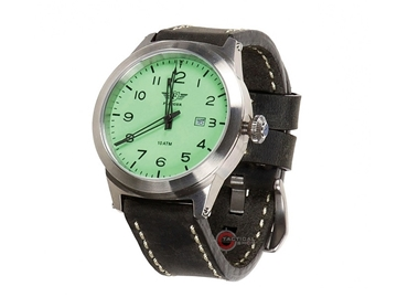 Εικόνα της Flieger Watch Grey Leather