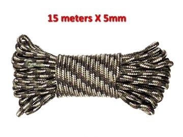 Εικόνα της Σχοινί 15 Μέτρα 5mm MFH Rope Camo