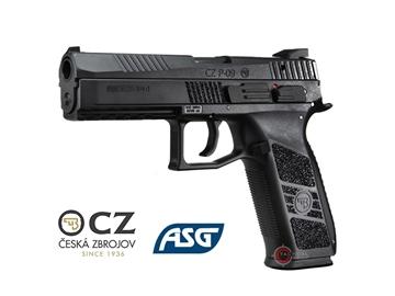 Εικόνα της Πιστόλι Airsoft Αερίου ASG CZ P-09 GBB 6mm Μαύρο