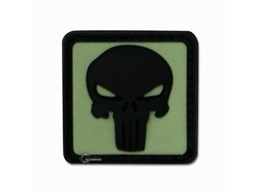 Εικόνα της Velcro Patch JTG - Punisher Skull Μαύρο / Φωσφοριζέ Φόντο