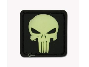 Εικόνα της Velcro Patch JTG - Punisher Skull Φωσφοριζέ / Μαύρο Φόντο