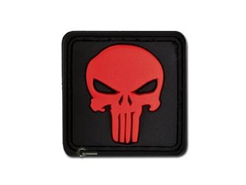 Εικόνα της Velcro Patch JTG - Punisher Skull Κόκκινο / Μαύρο Φόντο