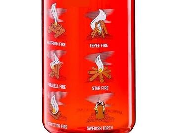 Εικόνα της Παγούρι Campfire Tritan Bottle 550 ml Red Black