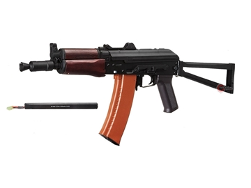 Εικόνα της Ηλεκτρικό Τυφέκιο Airsoft Cyma AKS-74U AEG Full Metal - Real Wood 6mm Μαύρο