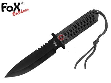 Εικόνα της Μαχαίρι Fixed Blade Paracord Λαβή Μαύρη