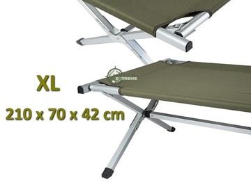 Εικόνα της Κρεβάτι Εκστρατείας XL Reinforced Aluminium Folding Cot Χακί