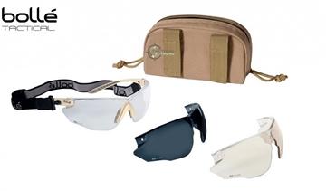 Εικόνα της Bolle Combat Tactical Goggles Kit Sand
