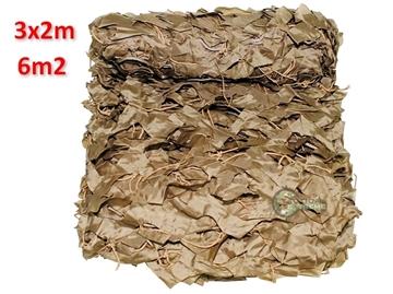 Εικόνα της Δίχτυ Σκίασης & Καμουφλάζ Μπεζ Basic 3x2m