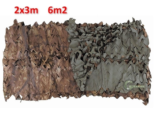 Picture of Αναστρέψιμo Δίχτυ Σκίασης & Καμουφλάζ Λαδί / Καφέ 3x2m