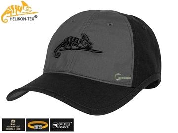 Εικόνα της Καπέλο Jockey Helikon Logo Cap Black - Shadow Grey