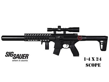 Εικόνα της Αεροβόλο Οπλοπολυβόλο Sig Sauer MCX With Scope 4.5mm Pellet Black
