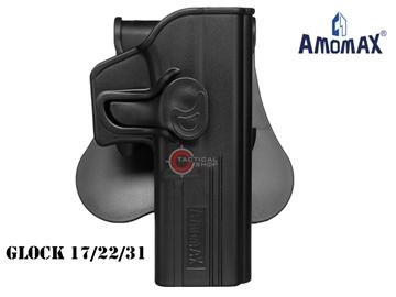 Εικόνα της Πιστολοθήκη Amomax Tactical Holster Polymer Paddle για Glock 17/22/31 Μαύρη