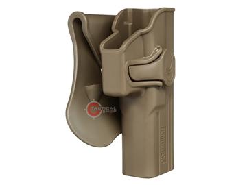 Εικόνα της Πιστολοθήκη Amomax Tactical Holster Polymer Paddle για Glock 17/22/31 FDE