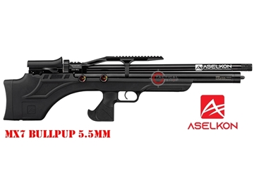 Εικόνα της Προσυμπιεσμένο Αεροβόλο Τυφέκιο Aselkon MX7 BullPup PCP Black 5.5mm