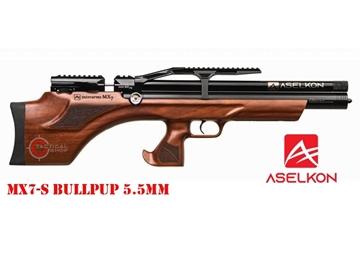 Εικόνα της Προσυμπιεσμένο Αεροβόλο Τυφέκιο Aselkon MX7-S BullPup PCP Wood 5.5mm