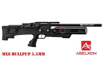 Εικόνα της Προσυμπιεσμένο Αεροβόλο Τυφέκιο Aselkon MX8 BullPup PCP Μαύρο 5.5mm