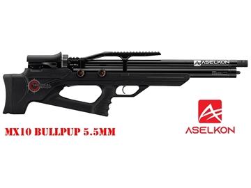Εικόνα της Προσυμπιεσμένο Αεροβόλο Τυφέκιο Aselkon MX10 BullPup PCP Μαύρο 5.5mm