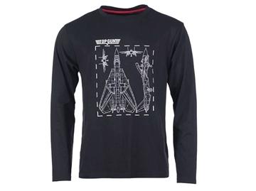 Εικόνα της Μπλούζα Μακρυμάνικη Mil-Tec T-shirt Top Gun Μαύρη