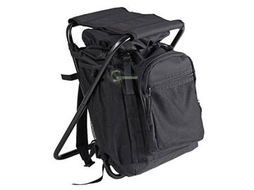 Εικόνα της Σακίδιο πλάτης με καρεκλάκι μαύρο Backpack with stoll 20L