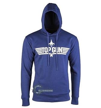 Εικόνα της Μπλούζα με Κουκούλα Μπλε Top Gun Hoodie