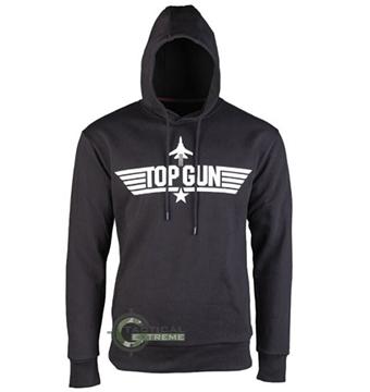 Εικόνα της Μπλούζα με Κουκούλα Μαύρη Top Gun Hoodie