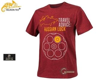 Εικόνα της T-shirt Μπλούζα Helikon Travel Advice Russian Luck Melange Red