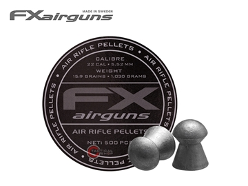 Εικόνα της Βολίδες Αεροβόλου Fx Airguns Domed 15.9gr 5.52mm