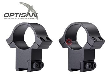 Εικόνα της Δακτύλιοι Διόπτρας Optisan EVM 30mm High Profile Dovetail 11mm