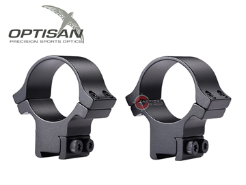 Εικόνα της Δακτύλιοι Διόπτρας Optisan EVM 30mm Medium Profile Dovetail 11mm